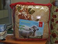 Одеяло (172x205) 2-спальное зимнее, овечья шерсть